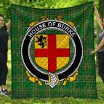 1stScotland Premium Quilt - House Of Burke Irish Family Crest Quilt - Irish National Tartan A7