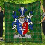 1stScotland Premium Quilt - Legg Or Legge Irish Family Crest Quilt - Irish National Tartan A7