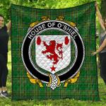 1stScotland Premium Quilt - House Of O'Shiel Irish Family Crest Quilt - Irish National Tartan A7