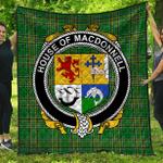 1stScotland Premium Quilt - House Of Macdonnell (Of The Glens) Irish Family Crest Quilt - Irish National Tartan A7
