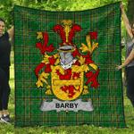 1stScotland Premium Quilt - Barby Irish Family Crest Quilt - Irish National Tartan A7