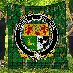 1stScotland Premium Quilt - House Of O'Sullivan (Beare) Irish Family Crest Quilt - Irish National Tartan A7