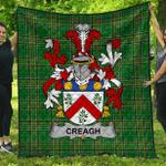 1stScotland Premium Quilt - Creagh Irish Family Crest Quilt - Irish National Tartan A7