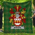 1stScotland Premium Quilt - Burges Irish Family Crest Quilt - Irish National Tartan A7