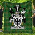 1stScotland Premium Quilt - Boylan Or O'Boylan Irish Family Crest Quilt - Irish National Tartan A7