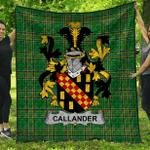 1stScotland Premium Quilt - Callander Irish Family Crest Quilt - Irish National Tartan A7