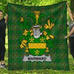 1stScotland Premium Quilt - Marward Irish Family Crest Quilt - Irish National Tartan A7