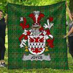 1stScotland Premium Quilt - Joyce Irish Family Crest Quilt - Irish National Tartan A7