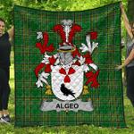 1stScotland Premium Quilt - Algeo Irish Family Crest Quilt - Irish National Tartan A7