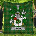 1stScotland Premium Quilt - Crowe Or Mcenchroe Irish Family Crest Quilt - Irish National Tartan A7