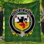 1stScotland Premium Quilt - House Of O'Daly Irish Family Crest Quilt - Irish National Tartan A7