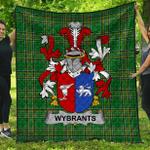 1stScotland Premium Quilt - Wybrants Irish Family Crest Quilt - Irish National Tartan A7