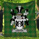 1stScotland Premium Quilt - Carter Irish Family Crest Quilt - Irish National Tartan A7