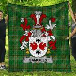 1stScotland Premium Quilt - Samuels Irish Family Crest Quilt - Irish National Tartan A7