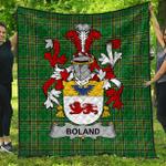 1stScotland Premium Quilt - Boland Or O'Boland Irish Family Crest Quilt - Irish National Tartan A7