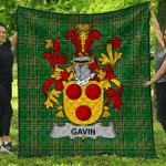 1stScotland Premium Quilt - Gavin Or O'Gavan Irish Family Crest Quilt - Irish National Tartan A7