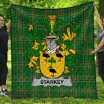 1stScotland Premium Quilt - Starkey Irish Family Crest Quilt - Irish National Tartan A7