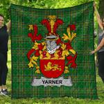 1stScotland Premium Quilt - Yarner Irish Family Crest Quilt - Irish National Tartan A7