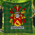 1stScotland Premium Quilt - Edgeworth Irish Family Crest Quilt - Irish National Tartan A7