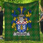 1stScotland Premium Quilt - Hoolihan Or O'Holohan Irish Family Crest Quilt - Irish National Tartan A7