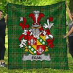 1stScotland Premium Quilt - Egan Or Mcegan Irish Family Crest Quilt - Irish National Tartan A7