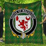 1stScotland Premium Quilt - House Of Mackeogh Irish Family Crest Quilt - Irish National Tartan A7