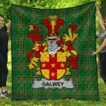 1stScotland Premium Quilt - Galwey Irish Family Crest Quilt - Irish National Tartan A7