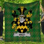 1stScotland Premium Quilt - West Irish Family Crest Quilt - Irish National Tartan A7