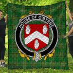 1stScotland Premium Quilt - House Of O'Byrne Irish Family Crest Quilt - Irish National Tartan A7