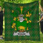 1stScotland Premium Quilt - Rogan Or O'Rogan Irish Family Crest Quilt - Irish National Tartan A7