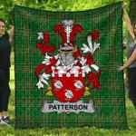 1stScotland Premium Quilt - Patterson Irish Family Crest Quilt - Irish National Tartan A7