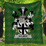 1stScotland Premium Quilt - Aylmer Irish Family Crest Quilt - Irish National Tartan A7