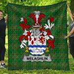 1stScotland Premium Quilt - Melaghlin Or O'Melaghlin Irish Family Crest Quilt - Irish National Tartan A7