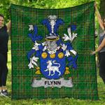 1stScotland Premium Quilt - Flynn Or O'Flynn Irish Family Crest Quilt - Irish National Tartan A7