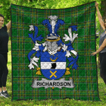1stScotland Premium Quilt - Richardson Irish Family Crest Quilt - Irish National Tartan A7