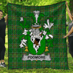 1stScotland Premium Quilt - Podmore Irish Family Crest Quilt - Irish National Tartan A7