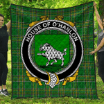 1stScotland Premium Quilt - House Of O'Hanlon Irish Family Crest Quilt - Irish National Tartan A7