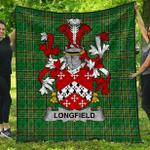 1stScotland Premium Quilt - Longfield Irish Family Crest Quilt - Irish National Tartan A7