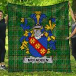 1stScotland Premium Quilt - Mcfadden Or Mcfadyen Irish Family Crest Quilt - Irish National Tartan A7
