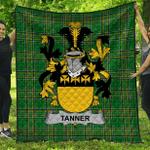 1stScotland Premium Quilt - Tanner Irish Family Crest Quilt - Irish National Tartan A7