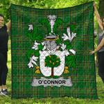 1stScotland Premium Quilt - Connor Or O'Connor (Faly) Irish Family Crest Quilt - Irish National Tartan A7