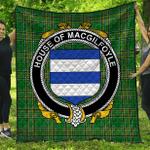 1stScotland Premium Quilt - House Of Macgilfoyle Irish Family Crest Quilt - Irish National Tartan A7