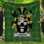 1stScotland Premium Quilt - Lyndon Or Gindon Irish Family Crest Quilt - Irish National Tartan A7