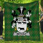1stScotland Premium Quilt - Metcalf Or Metcalfe Irish Family Crest Quilt - Irish National Tartan A7