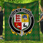 1stScotland Premium Quilt - House Of Macgrath Irish Family Crest Quilt - Irish National Tartan A7