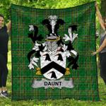 1stScotland Premium Quilt - Daunt Irish Family Crest Quilt - Irish National Tartan A7