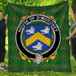 1stScotland Premium Quilt - House Of O'Moroney Irish Family Crest Quilt - Irish National Tartan A7