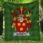 1stScotland Premium Quilt - Burnett Irish Family Crest Quilt - Irish National Tartan A7