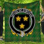 1stScotland Premium Quilt - House Of O'Moran Irish Family Crest Quilt - Irish National Tartan A7