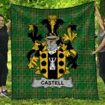 1stScotland Premium Quilt - Castell Irish Family Crest Quilt - Irish National Tartan A7